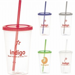 Glacier 600ml Tumbler with Straw