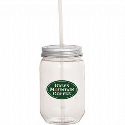 Mason Jar 650ml with Silver Tin Lid