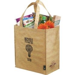 Matte Laminated Grocers Brown Bag