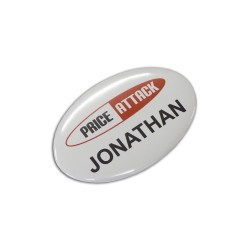 Button Badge Oval
