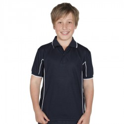 Podium Kids S/S Piping Polo