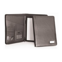Genuine Leather Compendium w/Zipper