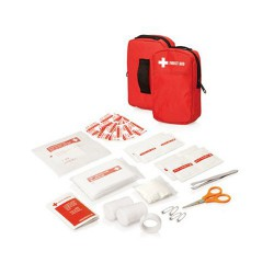 30pc First Aid Kit - Belt pouch w/front pocket