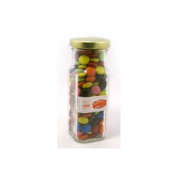 Choc Beans in Glass Tall Jar 220G (Mixed Colours)