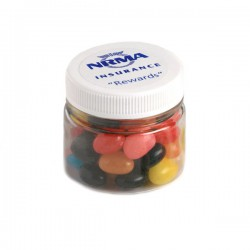 Jelly Beans in Plastic Jar 65G (Mixed Colours or Corporate Colours)