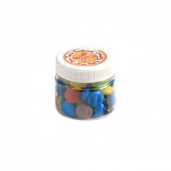 Choc Beans in Plastic Jar 65G (Corporate Colours)
