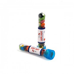 Test Tube Filled with Choc Beans 40G (Mixed Colours)