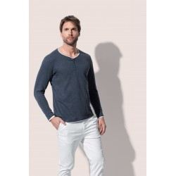 Mens Luke Henley Long Sleeve