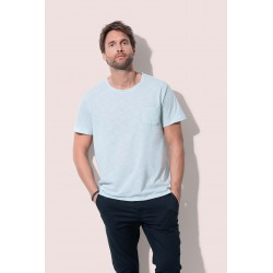 Mens Shawn Oversized Slub Crew Neck