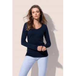 Womens Claire V-neck Long Sleeve