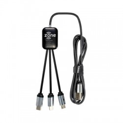 Fierra 3n1 Light Up Charge Cable - 1.0 metre