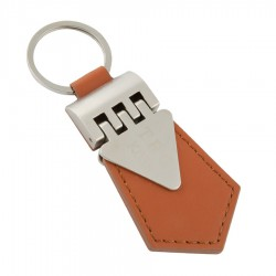 Leather Key Ring Leather Brown