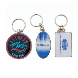 Picto Photo etched keyring with epoxy single side print