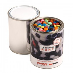 Paint Tin Filled with Choc Beans 1Kg (Corporate Colours)