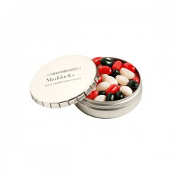 Click Clack Tin Filled with Mini Jelly Beans 70G (Mixed Colours or Corporate Colours)