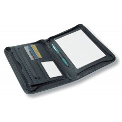 A5 Zippered Compendium with Metal Plate