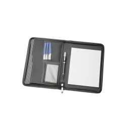 A5 Zippered Compendium With Striped Interior