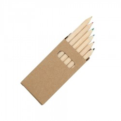 Eco Coloured Hafl Sized Pencils 6pk