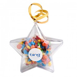 Acrylic Stars Filled with M&Ms 50G