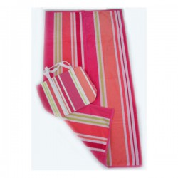 Island Stripe Beach  Towel with Bag