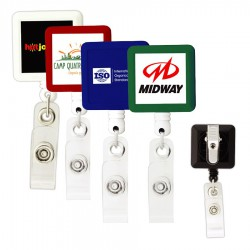 BioGreen Square Retractable Badge Holder