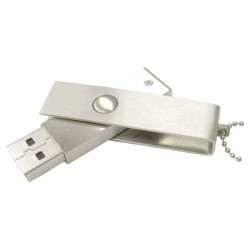 Slim Brushed Metal Swivel Drive